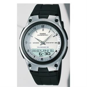 Casio Mens Analog Digital Watch White