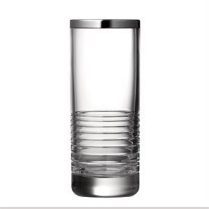 """Vera Wang Grosgrain Nouveau Platinum 8\"""" Vase"""