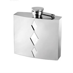 Vera Peplum Silver Flask