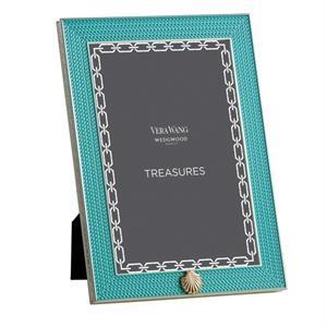Treasures With Love Aquamarine Seashell 4x6 Frame