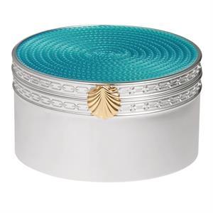 Vera Wang Treasures w/Love Aquamarine Seashell Treasure Box