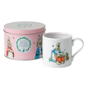 Peter Rabbit Pink Mug In A Tin