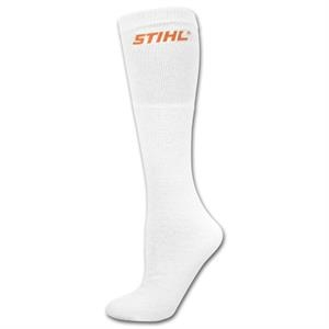 Mediumweight White Cotton Tube Sock with Printed Applique