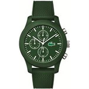 L.12.12 TR90/Green Silicone Case with Green Silicone Strap.