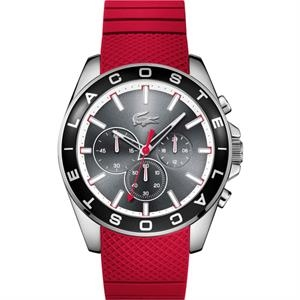 Westport Mens Chronograph Watch SS Case Grey Dial Red