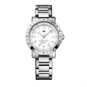 TOMMY HILFIGER Ladies, White Gloss Dial. SS Bracelet.