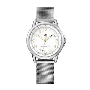 TOMMY HILFIGER Ladies SS Case SS Mesh Bracelet White Dial