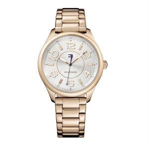 Tommy Hilfiger Ladies Rose Gold IP Steel Case Watch