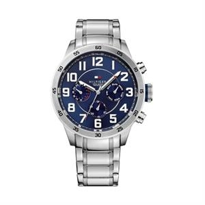 TOMMY HILFIGER Mens SS Case & Bracelet Navy Chronograph Dial