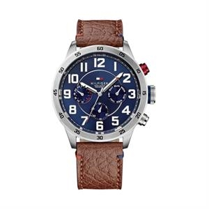 TOMMY HILFIGER Mens SS Case Navy Chronograph Dial