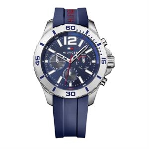 TOMMY HILFIGER Mens SS Case Navy Multi-eye Dial