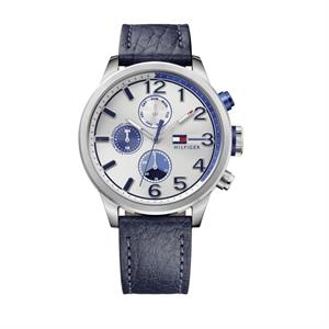 TOMMY HILFIGER Mens SS Case Navy Leather Strap