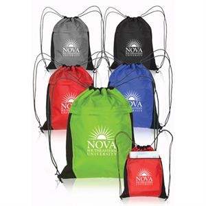 Drawstring Backpacks with Mesh Accent