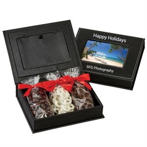 Picture Frame Keepsake Gift Box with Almonds and Pretzels