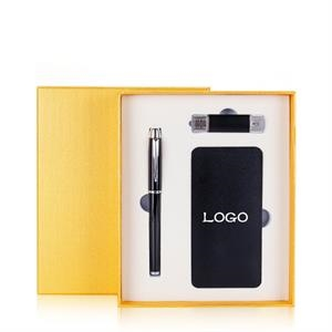 pen usb drive and powerbank Gift Set