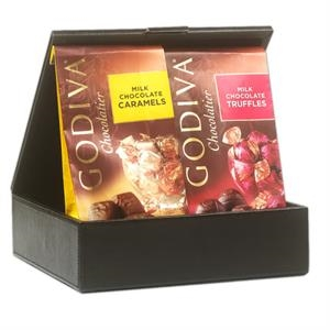 Chocolate Gift Set in a leatherette gift box