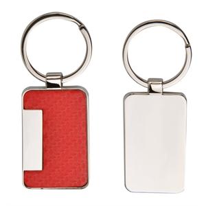 Carbon Fiber Pattern Leatherette Metal Key Holder