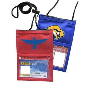 Classic Event Neck Wallet w/ Top zipper & Adjustable Cord