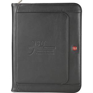 Wenger(R) Exec Leather Zippered Padfolio Bundle Set