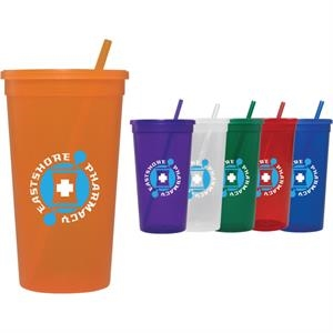 32-oz. Jewel Tumbler w/ Lid & Straw