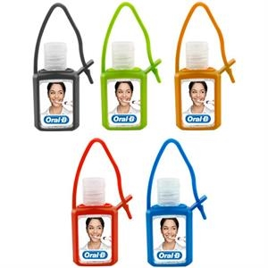 .5 oz Hand Sanitizer Gel in Silicone Keychain Case