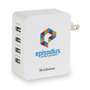 Brookstone®4-Port USB Wall Charger II