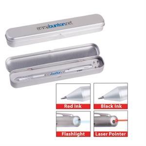 4-in-1 laser/flashlight pen