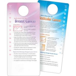 Hang Tag - Early Detection for Breast / Testicular Cancer