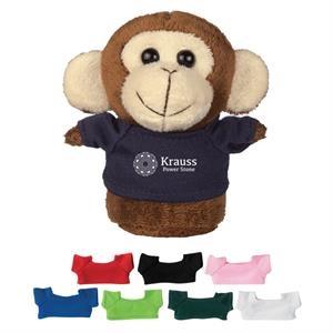 """4"""" Mini Plush Buddies Monkey With Shirt"""