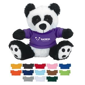"6\"" Plush Big Paw Panda With Shirt"