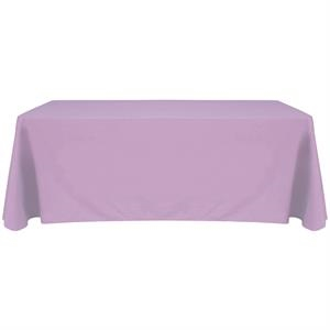 6' Blank Solid Color Polyester Table Throw - Lilac