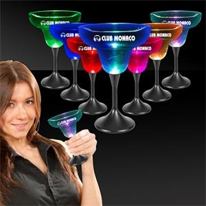10 oz. Lighted LED Margarita Glass