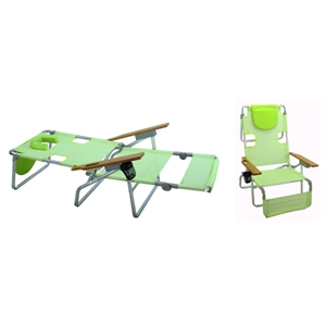 Soak up some rays with this multi-position beach chair
