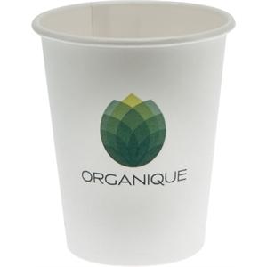 8 oz Eco-Friendly Paper Cup - White - Digital