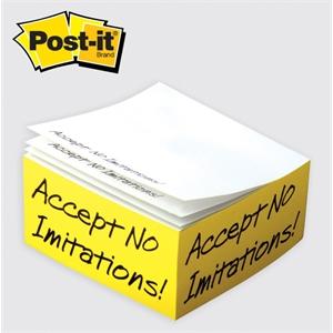 Post-it® Custom Printed Notes Half Cube
