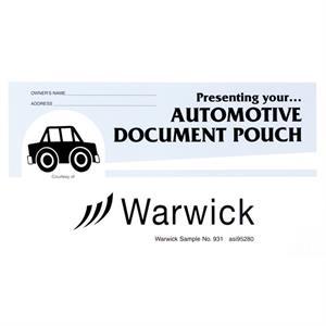 Stock Auto Document Pouches - Lt Blue