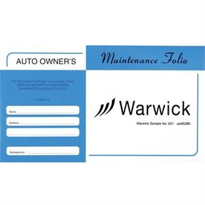 Stock Auto Document Pouches - Std Blue