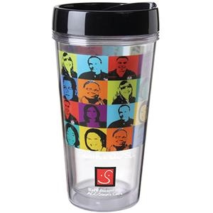 Full Color on Clear Travel Tumbler