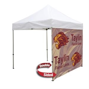 8 Foot Wide Double-Sided Tent Full Wall Only w/ Liner/Zipper