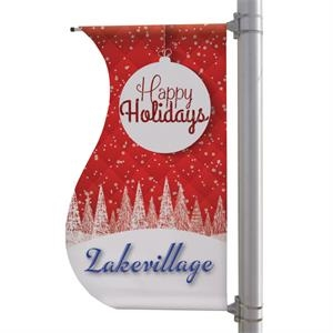"""30"""" x 60"""" 18 oz Opaque Material S-Shaped Boulevard Banner"""