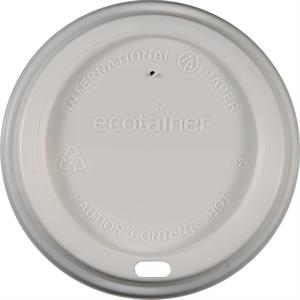 12/16 oz Eco-Friendly Paper Cup Dome Lid - White