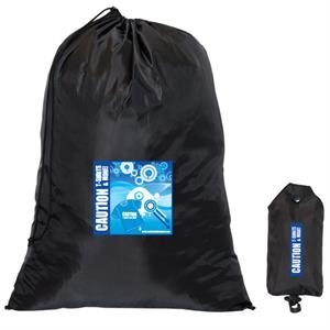 FOLDING LAUNDRY BAG IN A POUCH