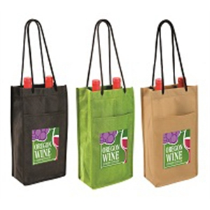 NW Double Bottle Wine Bag, Full Color Digital