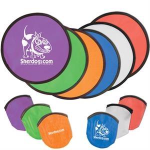 Folding Flyer Disc Hand Fan with Pouch