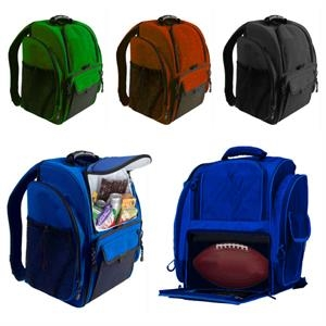 Cooler backpack with football