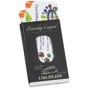 2500 mAh Aluminum Power Bank with Card Holder