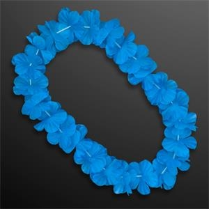 Blue Flower Lei Necklace (Non-Light Up)