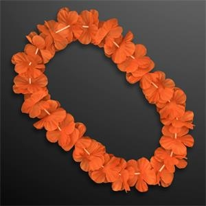 Orange Flower Lei Necklace (Non-Light Up)