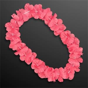 Pink Flower Lei Necklace (Non-Light Up)