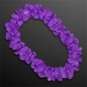 Purple Flower Lei Necklace (Non-Light Up)